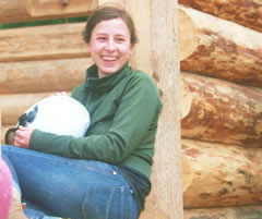 Kate at Log Building Course
